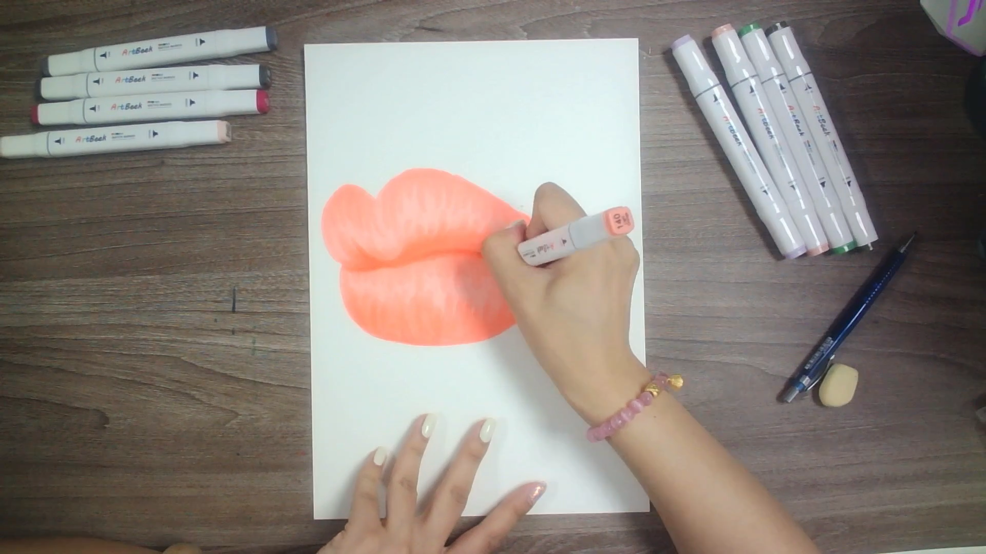 How to draw lips with ArtBeek markers