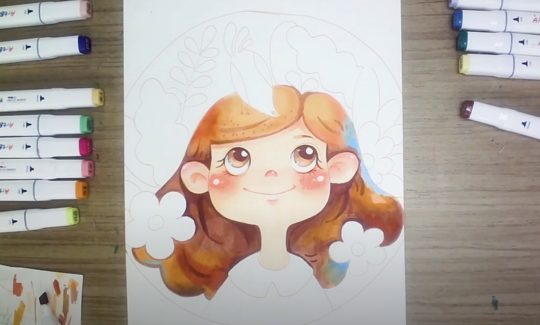 Drawing Ideas | How to Draw Baby Face with ArtBeek Markers