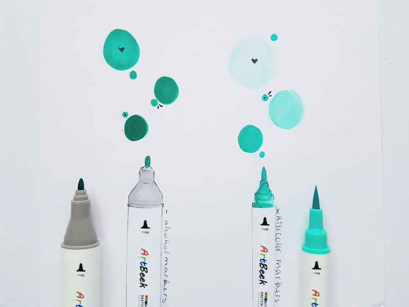 alcohol markers vs water based markers