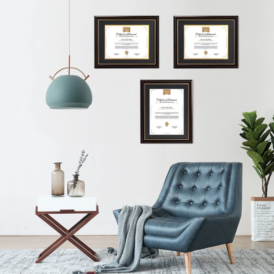 """Single Diploma Frame with Double Matting for 8.5""""x11"""" Tall Diploma"""