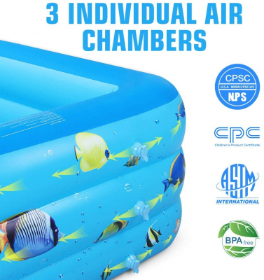 """Inflatable Swimming Pool, 71""""×55""""×24"""""""