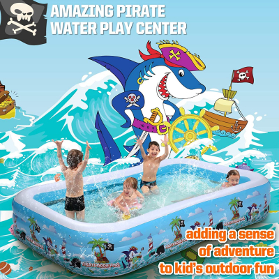 """10 ft Inflatable Swimming Pool, Full-Sized 120"""" X 72"""" X 22"""", 0.4mm Thicker"""