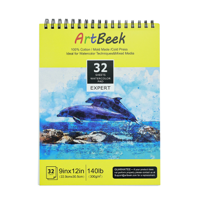 Watercolor Paper, 9x12 Inch, 32 Sheets