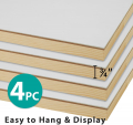 Gessoed Wood Panel Boards for Painting - 11x14 Inch/4 Pack