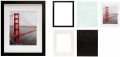 11x14 Black Picture Frames - Made to Display Pictures 8x10 with Mat or 11x14 Without Mat