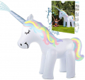 5.3 ft High Unicorn Sprinkler Inflatable Water Toys for Outside with Packing Box