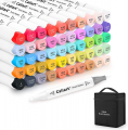 51 Colors Alcohol Dual Tip (Brush & Chisel) Markers