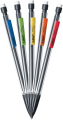 C Xtra-Smooth Mechanical Pencil, Clear Barrel, Medium Point (0.7mm), 320-Count