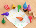 12 Colors Paint Crayons Painting Pencil Sticks Washable for Toddlers