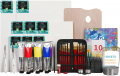 Oil Painting Supplies with French Easel, 200ML/6.76 oz Oil Paint Set, Oil Paintbrushes, Stretched Canvases
