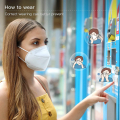 20PCS Disposable Earloop Face Mask, 5 Layer Breathable Protective masks Against PM2.5