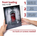 Mantello Front Loading Black Picture Frame 8x10 - Set of 6