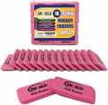 June Gold 16 Pink Rubber Erasers Perfect for classrooms, Homes & Offices
