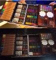 145-Piece 2 Layers Deluxe Art Set for Drawing, Painting