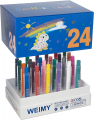 WEIMY Dustless Pushable School Chalk Non-Toxic Colored Chalk, 24 Pack
