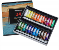 46 Pcs Oil Painting Set with Beech Wood Tabletop Easel,12mlX24