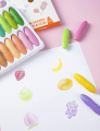 Pastel 12 Colors Non-Toxic Crayons for Toddlers