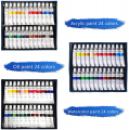 108pc Deluxe Artist Painting Set with Aluminum Easels