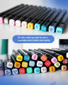 80 Colors Dual-Tip Alcohol Based Art Marker