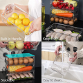 3 Sizes Pack of 9 Stackable Clear Food Storage Bins for Refrigerator, Kitchen Countertop