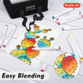 205 Colors Dual Tip Alcohol Art Markers