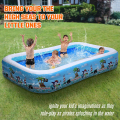 10 ft Inflatable Swimming Pool, Full-Sized 120