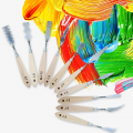 Palette Knife with Wood Handle - Set of 10 - Different Shapes and Sizes
