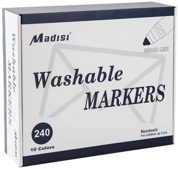 Washable Broad Line Markers, 240 Count