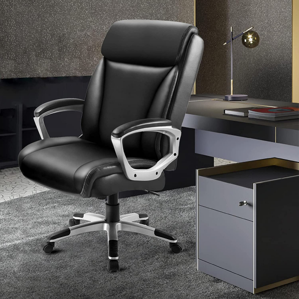High Back Swivel with Wheels Ergonomic Office Chair