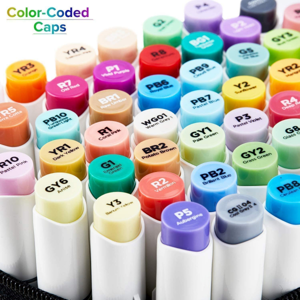 216-color Alcohol Brush & Chisel Art Markers