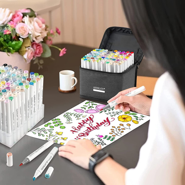 80 Colors Alcohol Brush Markers Set