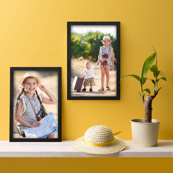 11x17 Picture Frame, Black Poster Frames for Wall and Tabletop Display
