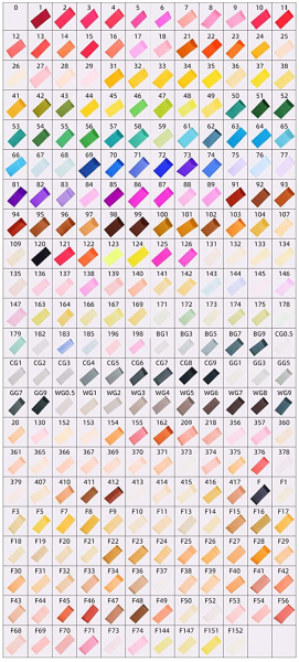 262 Colors Alcohol Dual Tip (Fine & Chisel) Markers
