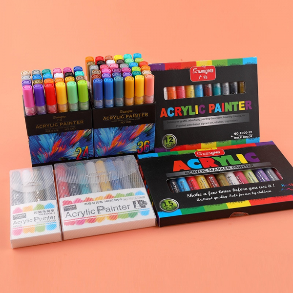 36 Colors Acrylic Markers
